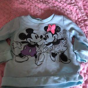 Mickey and Minnie Mouse sweatshirts